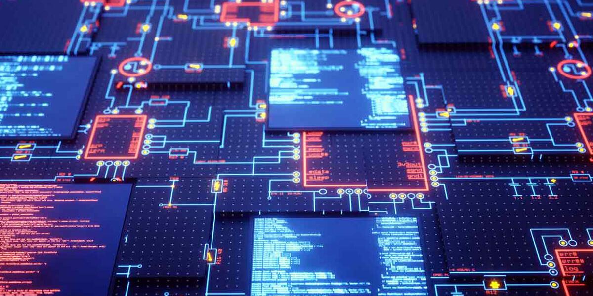 Placa de circuitos eletrónicos proteção de dados