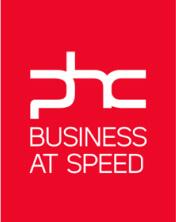 logo phc business at speed